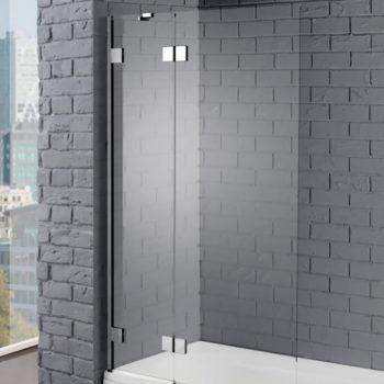 Aquadart Venturi 8 1000 x 1500mm Hinged Bath Screen