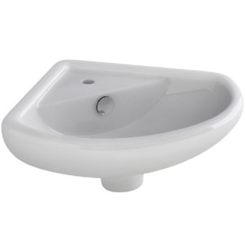 Imex 310mm Corner Wall Basin 1 Tap Hole