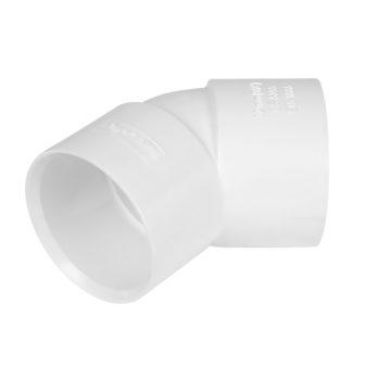 Davant 32mm White Solvent Weld Obtuse Bend 45