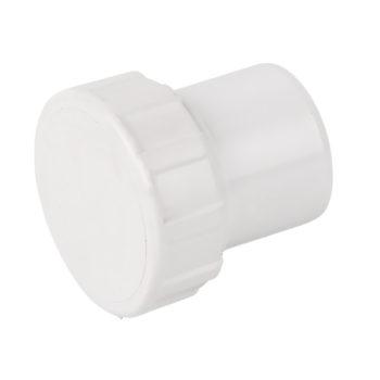 Davant 40mm White Solvent Weld Access Plug Screwed