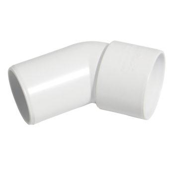 40mm White Solvent Weld Spigot Bend 45