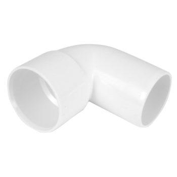 40mm White Solvent Weld Spigot Bend 90