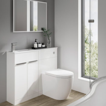 Elation Slimline Combo Gloss White 1000mm