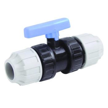 MDPE 20mm Compression Stop Valve PE-PE