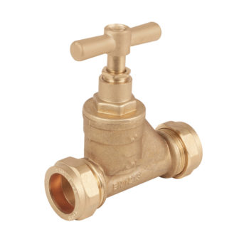 MDPE 25mm x 22mm Brass Stop Cock