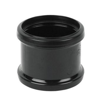 Davant 110mm Black Double Slip Socket Coupling