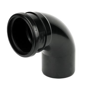 Davant 110mm Black Single Socket Bend 92 Degree