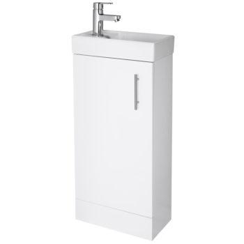 Scudo Lanza Floorstanding Vanity Unit White 400mm