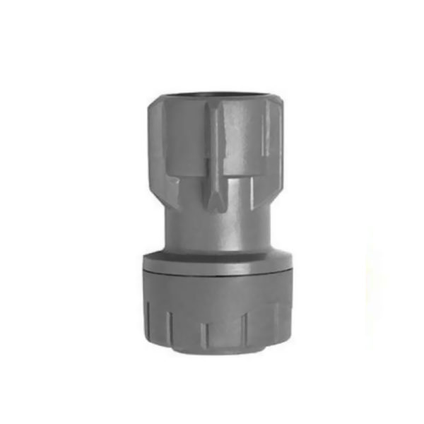 Polyplumb 22mm x 3/4inch Straight Tap Connector Hand Tight